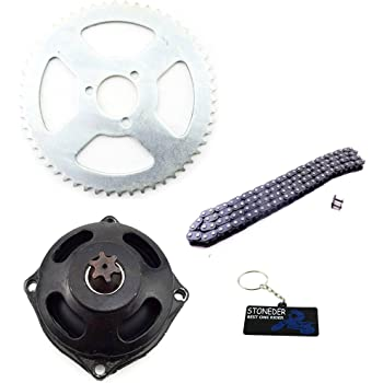 Yctze Motorcycle Sprocket Kit,Motorbike Aluminum Alloy Drive System T8F Chain /& 6T Gear Box /& Rear Sprocket Kit for Mini Motorcycle 47cc 49cc
