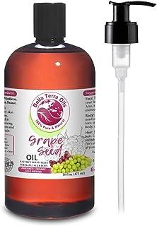 NEW Grape Seed Oil. 16oz. Cold-pressed. Unrefined. Organic. 100% Pure. Rich in vitamins. Hexane-free. Rejuvenates Skin. So...