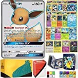 Totem World Eeveelution Pokemon Card Ultra Rare GX Lot with Totem Storage Case, Collectors Binder Album & Deck Box,...