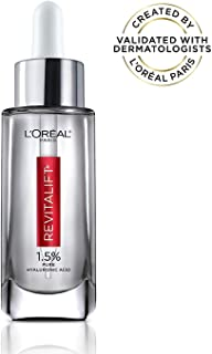 Pure Hyaluronic Acid Serum By L'Oreal Paris Skin Care I Revitalift Derm Intensives 1.5% Pure Hyaluronic Acid Anti-Aging Face Serum To Visibly Plump & Reduce Wrinkles I 1.0 Oz