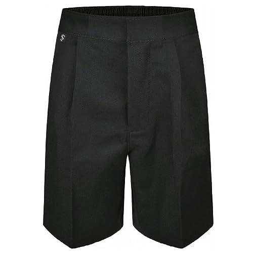 4f4dcee237 INTEGRITI Boys Pull up School Uniform Shorts Elasticated Pull On Black Grey  Navy Ages 2 3