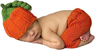 Baby Photography Props Newborn Boy Girl Photo Shoot Outfits Crochet Costume Infant Knitted Pumpkin Hat Pants