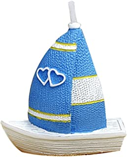 ILIKEPAR Birthday Candles Smokeless Cake Topper Candle fo Party Supplies (Sailboat)