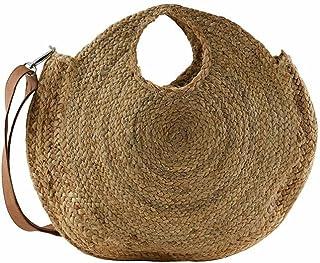 PIECES Damen Pclona Straw Bag Sww Umhängetaschen, Einheitsgröße