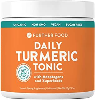 Daily Turmeric Tonic: Organic Turmeric Boosted with 7 Superfoods & Adaptogens | Makes a Perfect Golden Milk | Sugar-Free, ...