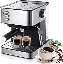 Traditionele pomp-espressomachine, 15-repen espressomachine met schuimende melkstok, bediening met 茅茅n druk op de knop 1.6...