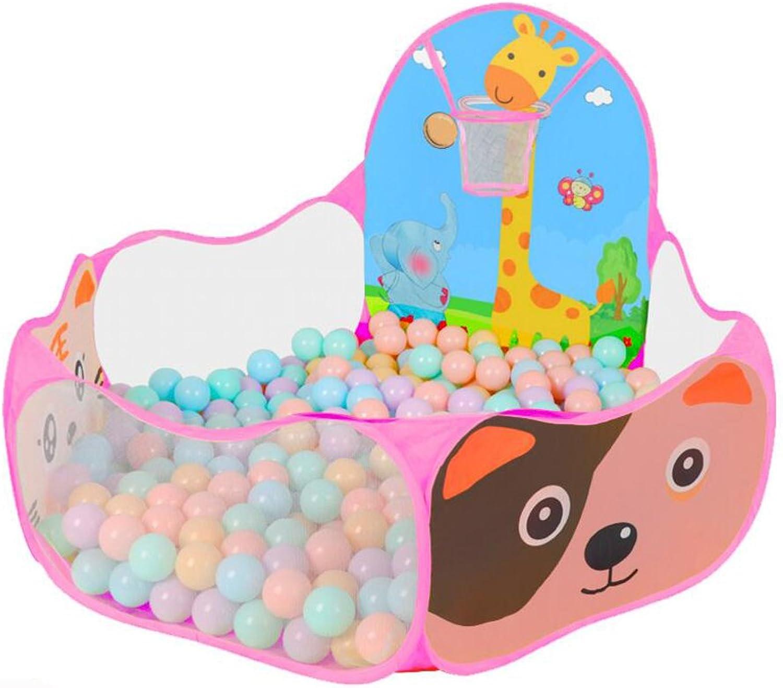 Pretend Toys Folding Basketball Pool 100 colorful Balls Kids