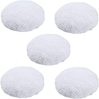 2-Pack WEN 10A345 10-Inch Synthetic Wool Polishing Bonnets