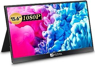 ARZOPA 15.6インチ モバイルモニター/モバイルディスプレイ/ポータブルモバイルモニター ミラーリング/スマホ/ゲーム機/Nintendo Switch/PS4/PS5/カメラ/XBOX ONEなど対応 60Hz 72%色域 HDR 薄...