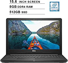 Dell 2019 Inspiron 15 3000 i3576 15.6 Inch HD Laptop (Intel Quad-Core i5-8250U 3.40 GHz, 8GB DDR4 RAM, 512GB SSD, Bluetooth, WiFi, DVD, Windows 10, Black) (Renewed)
