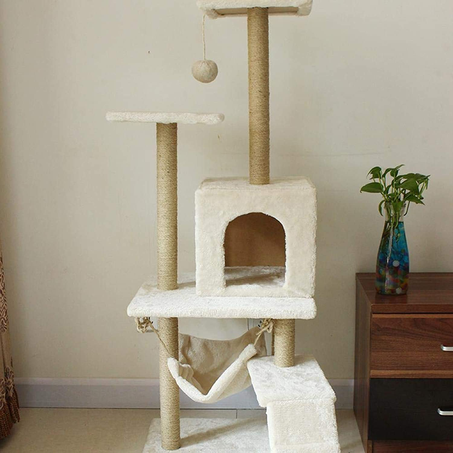 Axiba Play Towers Trees for Cats Cat climbing Frame Cat Tree Cat Scratch Board cat Litter Cat Supplies cat toy cat Platform Pet Grinding Claw 130cm 52cm