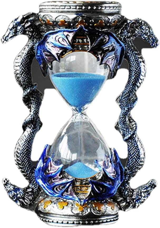 YQLKD Table All items in the store Sculpture Metal Sand Super intense SALE Clock T Minutes Style 15 Dragon
