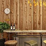 Juego de pared familiar apliques de tronco corredor de niña Tienda casa de té cafetería tablón de madera textura papel tapiz