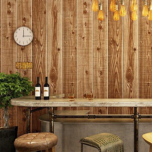 Uw kunst Enge rode Sticker Shop theehuis Koffie Shop Houten Plank Textuur Behang 0.53x10m 1