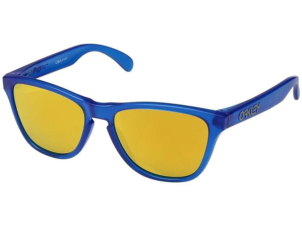0a8b56e96b Oakley Frogskin XS (Youth) (Matte Sapphire w  24k Iridium) Sport Sunglasses