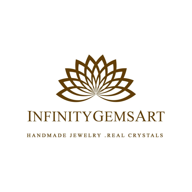 InfinityGemsArt Natural Green Malachite Cabochon Gemstone, Energ