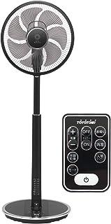 トヨトミ ハイポジション扇風機 タッチストップセンサー 人感センサー 風量24段階 DCモーター ブラック FS-DS30KHR(B)