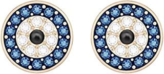 SWAROVSKI Luckily Evil Eye Pierced Earrings, Multi-Colored, Rose-Gold Tone Plated