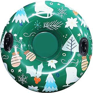 CARACHOME Anneau de Ski Rond en PVC, Planche de Surf Gonflable en Tube de Neige, Luge à Neige résistante au Gel, pour Adul...
