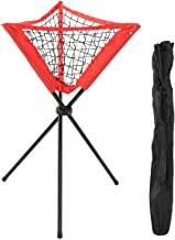 Driehoekige Nettas Draagbare Honkbal Softbal Batting Praktijk Statief Balrek Rood (Gemakkelijk op te bergen en te gebruiken)