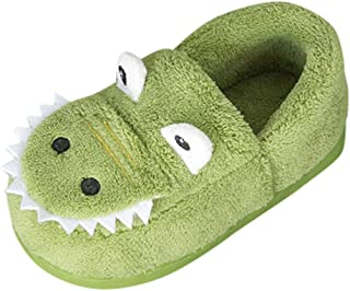 JJHAEVDY Toddler Slippers Boys Girls House Shoes Non-Slip Soft Socks Cartoon Moccasins Infant First Walking Stay On Shoes