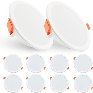 LED Spot Encastré 10W Spot Led Encastrable Ketom Downlight LED Blanc Chaud 3000K Spots Encastrables 850LM Rond Extra Plate...