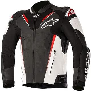 alpinestars atem leather jacket black white