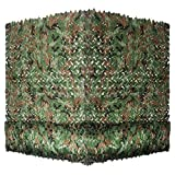 Yeacool Camouflage Netting Military Camo Nets for Party Decoration Hunting Sunshade Camping Shooting(Woodland Camo 6.5ftx5ft)