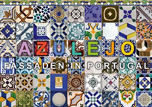 Azulejo-Fassaden in Portugal (Tischkalender 2021 DIN A5 quer)