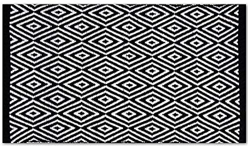 Pro Home Teppich Läufer Matte Unterlage Vorleger Fußabtreter, breite Auswahl an modernen Fleckerl- und Baumwollteppiche (60x90 cm/Diamond)