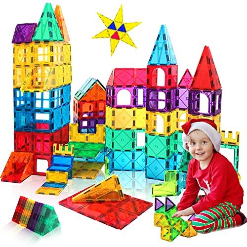 HOMOFY Toys for 3 4 5 6 7 8 Year Old Boys and Girls Magnetic Tiles for Kids Christmas Birthday Gift STEM Magnetic Blocks 3D Magnetic Toys for Kids Age 3-6