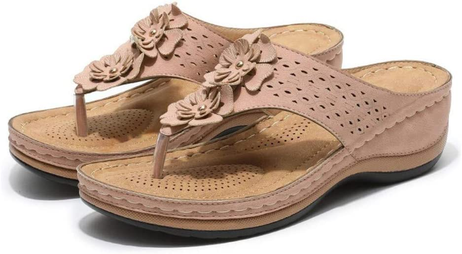 Dealing full price reduction JLCP Women's Fashion Sandals Vintage F Colorado Springs Mall Flower Summer Decoration