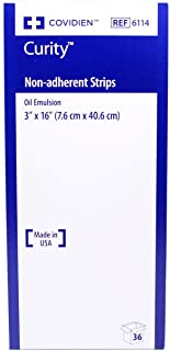 Curity Non-Adherent Oil Emulsion Wound Dressing Strips 3