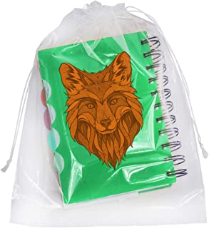 APQ Pack of 50 Clear Drawstring Bags 10 x 14. Double Cotton Drawstrings Polyethylene Bags 10x14. Thickness 2 mil. Plastic Bags for Packing and Storing. Ideal for Industrial and Business Applications.