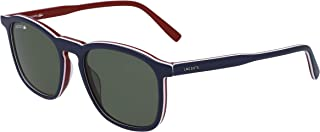 Lacoste L901s Rectangular Sunglasses, Blue/White/Green, 52.18 mm