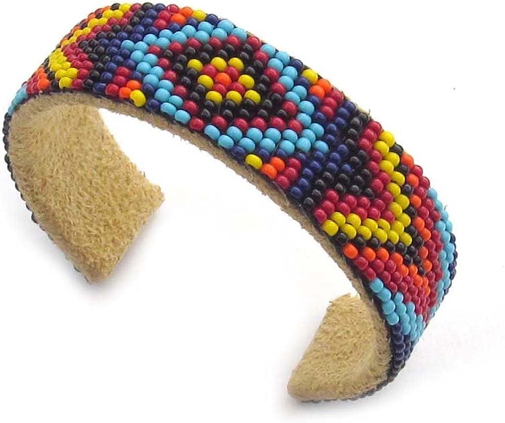Handmade Multicolored Beaded Native American Style Cuff Bracelet UNISEX B53/11