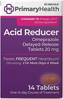 Primary Health Acid Reducer Omeprazole Magnesium 20mg Delayed-Release Tablets, 14 Count