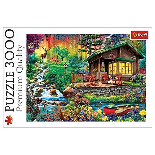 Trefl, Puzzle, Ein Waldhäuschen, 3000 Teile, Premium Quality, ab 14 Jahren