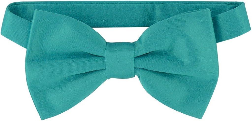 Vesuvio Napoli BOWTIE Solid TEAL Cheap bargain Color Tuxedo for Men's Bow Gifts Tie