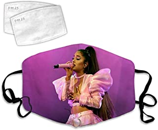 Ariana Gra-nde Mouth Cover and 2 Filters,Face Protection for Dust,Outdoors