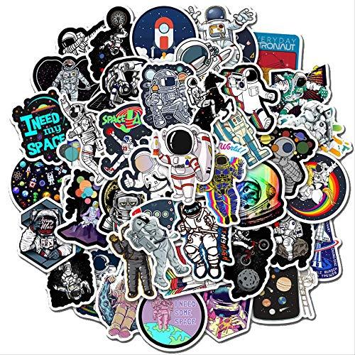 JZLMF Pegatinas de Graffiti del Espacio Exterior para refrigerador, Casco de Coche, Caja de Regalo DIY, Bicicleta, Guitarra, Cuaderno, baúl de Skate, 50 Uds.