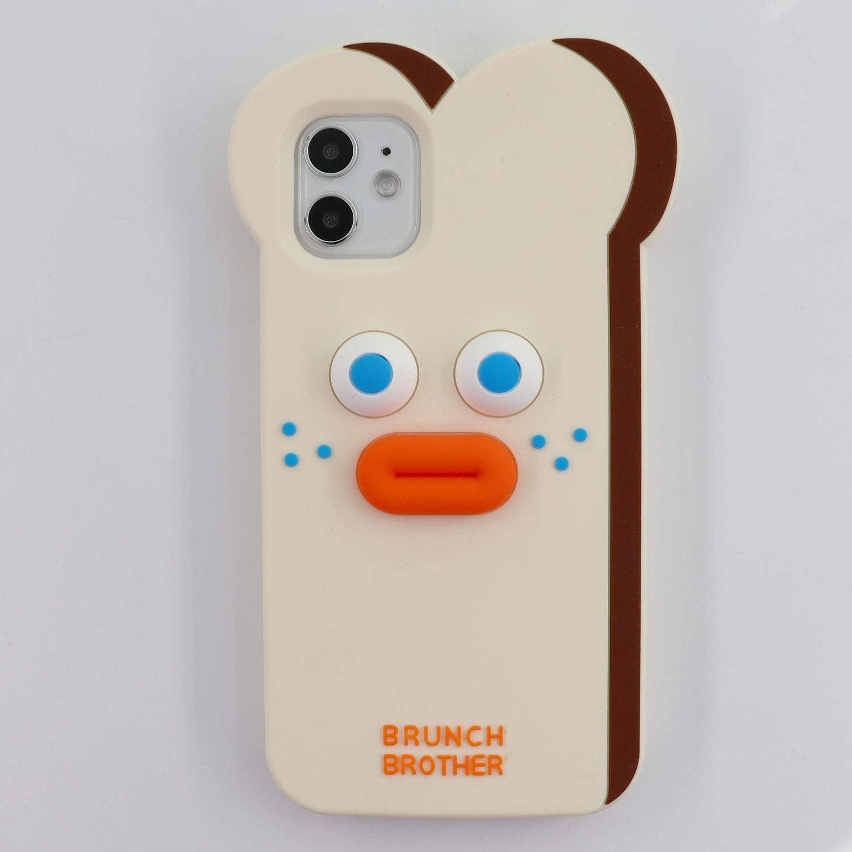 Tonvizern for iPhone 11 6.1'' Case, 3D Cartoon Cute Bread Monster Shockproof Case, Kids Women Girls Soft Silicone Rubber Cover Case for iPhone 11 (Bread Monster)