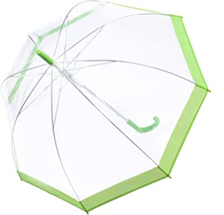 Trenton Gifts Clear Umbrella with Mint Green Trim