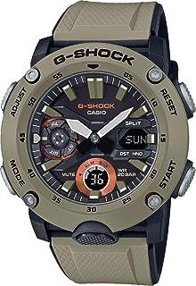 Men's Casio G-Shock Analog-Digital Carbon Core Guard Beige Resin Band Watch GA2000-5A