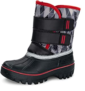 TF STAR Girls Boys Toddler Ankle Outdoor Waterproof Winter Snow Boots, mid Calf Anti-Skid Warm Snow Boots for Kids/Girls