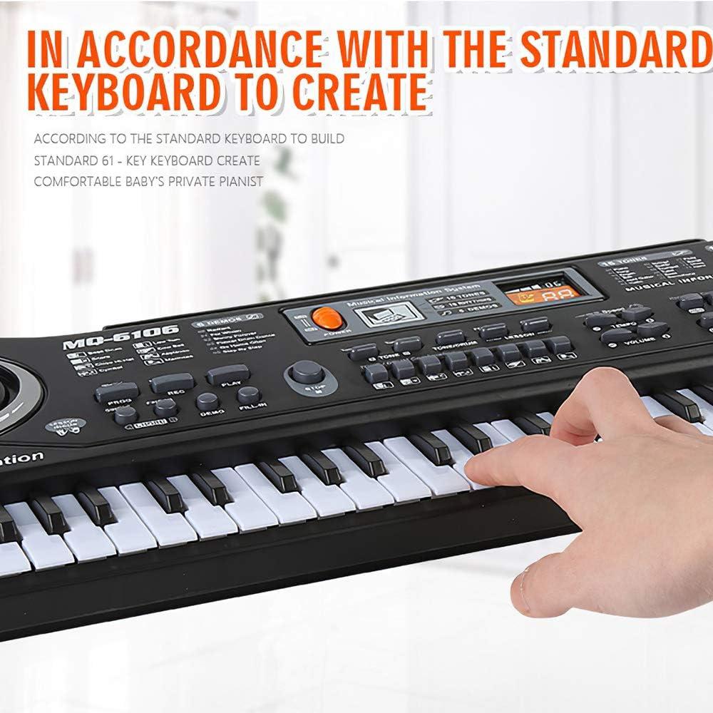 piano /électrique portable avec microphone multifonctionnel pour enfants ZONJIE Clavier de piano pour enfants 61 touches jouet de piano musical