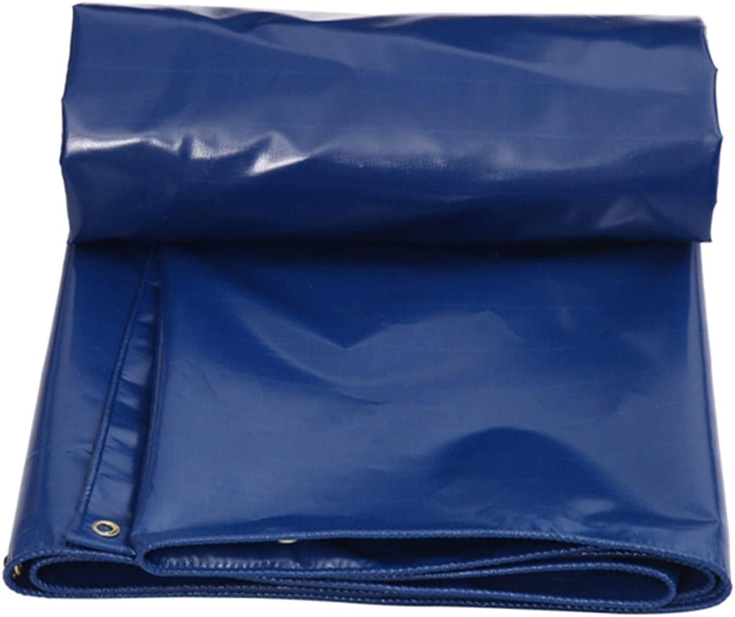 CHAOXIANG Tarpaulin Waterproof Heavy Duty Tent Thicken Foldable Antiseptic Sunscreen Covering The Rain Linoleum PVC, 550G m2, 12 Size (color   blueee, Size   3x4M)