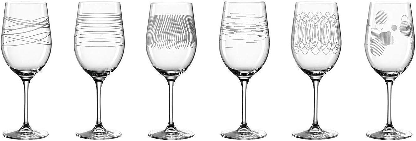Galway Weinglaser Set Spiral Muster Transparent