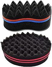 AMACOAM Cepillo de esponja Magic Curl Magic Peluquería Pelo Cepillo Esponja Bobina Esponja Rizador para Afro Pelo Magic Herramienta de Belleza - 2 Piezas