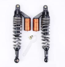 Wotefusi New Pair Air Gas Shock Absorbers 360mm 14.2 inches Round Ends Motorcycle Replacement Universal for Honda Suzuki Kawasaki Yamaha Ducati Scooter Atv Quad Dirt Sport Bike Go Kart
